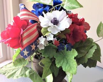 Silk poppy etsy white poppy flower arrangement silk flower centerpiece artificial flower decor summer floral centerpiece mightylinksfo