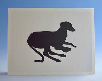 Greyhound Card Greeting Dog Owner Birthday
