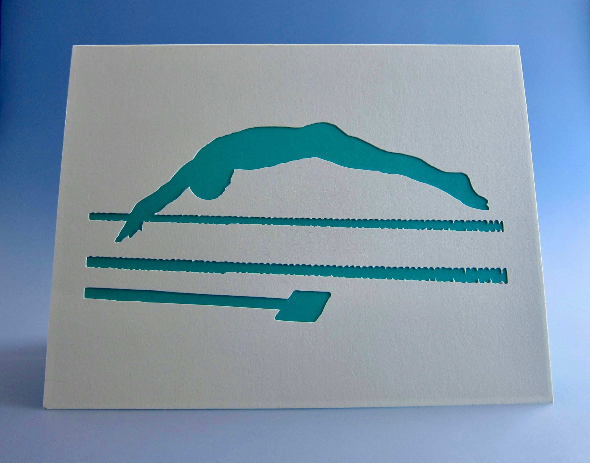 Swimmer Card Swimmer Birthday Card Swimmer Greeting Card Swimmer