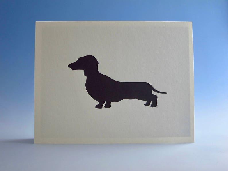 Dachshund Card Greeting Dog Owner