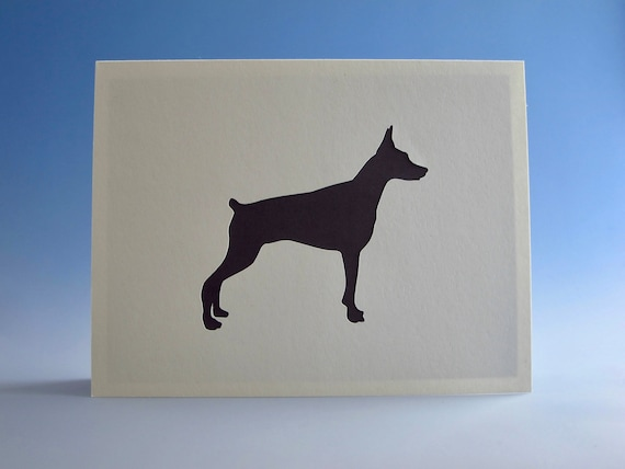 Doberman Card Greeting Dog Owner