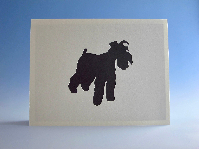 Schnauzer Card Greeting Dog Owner Birthday