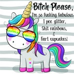 Bitch Please, I'm so Fucking Fabulous I Pee Glitter, Shit Rainbows, and Fart Cupcakes, print file png, sublimations