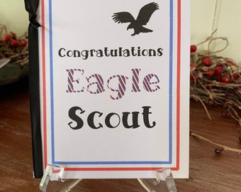 graphic about Eagle Scout Congratulations Card Printable known as Eagle scout card Etsy