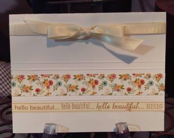 Hello Beautiful blank greeting card