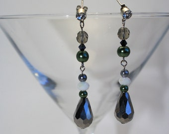 Smokey Green earrings