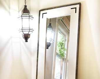 Rustic Full Length Mirror, White Distressed Floor Mirror, White Washed  Wooden Frame, Reclaimed Wood Long Mirror.