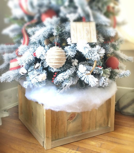 Christmas Tree Planter Box Christmas Tree Skirt Tree Gate Etsy