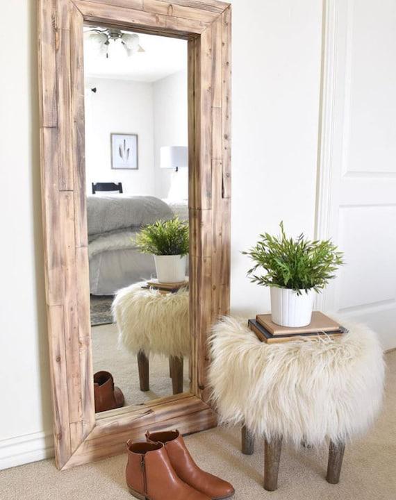 Full Length Mirror Wall Mirror Floor Rustic Mirror Corner