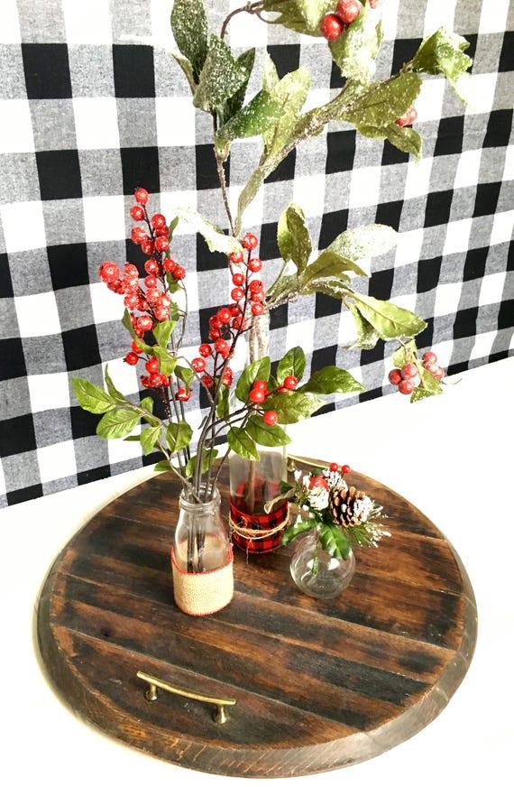 Christmas Centerpiece Dining Table Arrangement Glass Vases Etsy