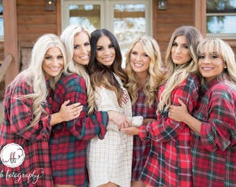Mismatched Bridesmaid Flannel Shirts, Bridal Party Button Down Shirt, Getting Ready, Vintage Flannels for Bridesmaid Robes, Wedding Flannel