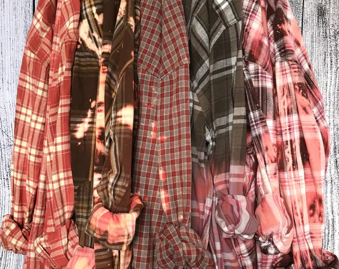 JULIET Distressed Flannel Shirts For Bridesmaids, Getting Ready Shirts, Wedding Flannels, Rustic Wedding Trends and Bridal Party Gifts