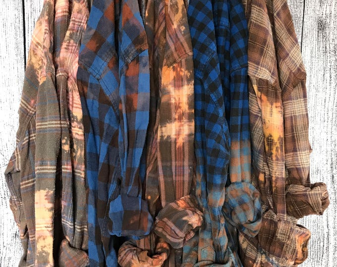 ROMEO Distressed Flannel Shirts, Bridesmaids Getting Ready Shirts, Wedding Flannels, Rustic Bridal Party Gifts, alternative robes