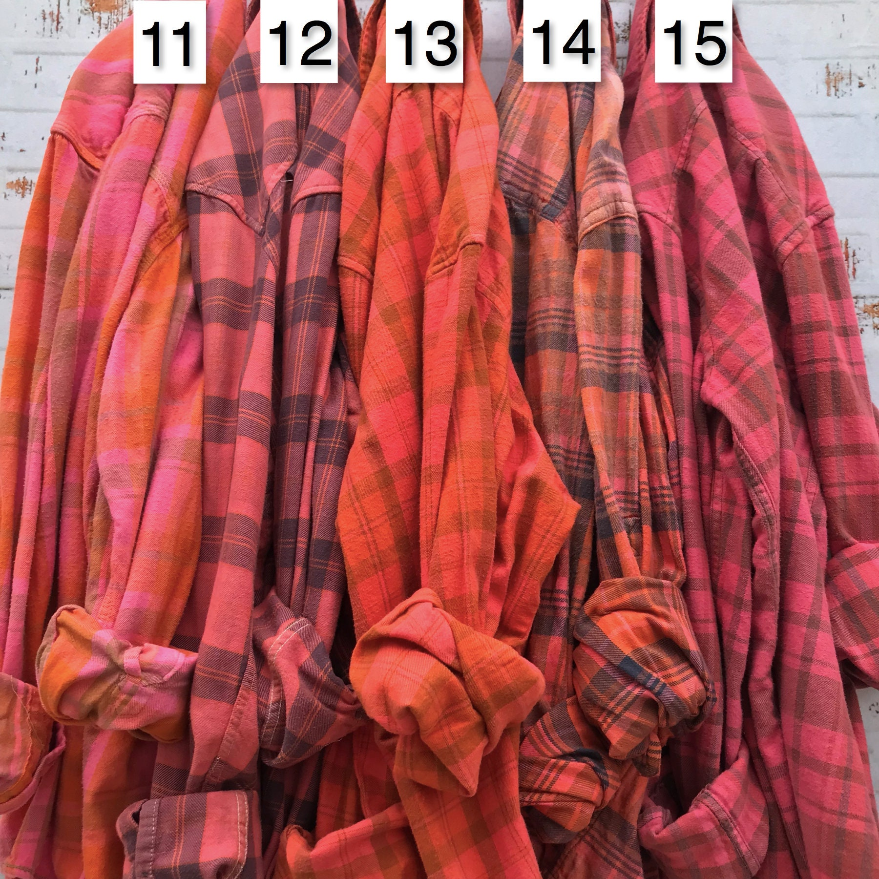 flannel shirts for getting ready plaid button down bridesmaids shirt SUMMER SOIREE Mismatched Bridesmaid Flannels alt bridal party robe