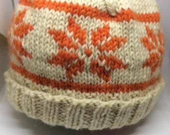 Wool Baby Snowflake Hat