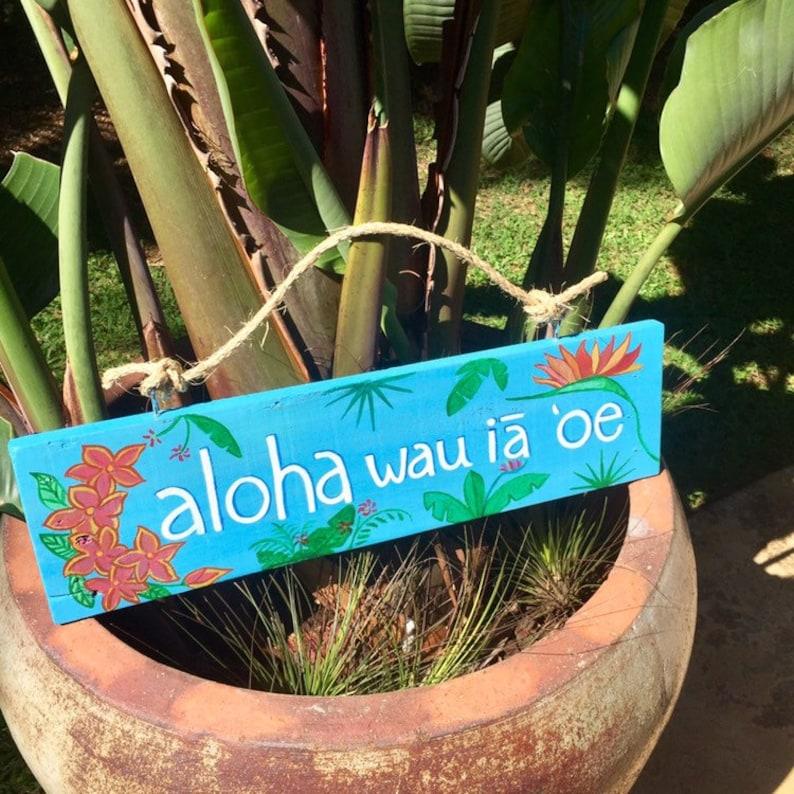 Hawaiian Hand Painted Sign, Aloha Pallet Wood