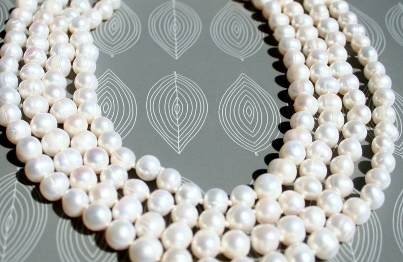 unique piece wedding jewelry natural pearls high quality long pearl necklace 80 inch