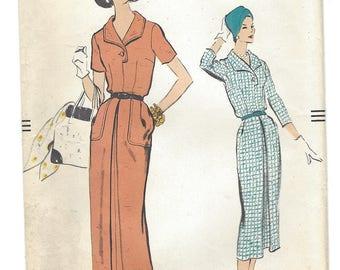 Vintage Pattern Vogue 9130 Dress S16 1957 [PWAP-0141]