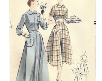 Vintage Vogue Pattern V-7785 Housecoat/Brunchcoat Easy to Make S16 1952 Uncut Excellent Condition [PWAP-0113 ]