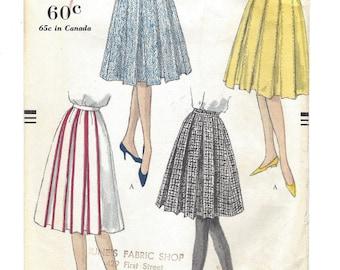 Vintage Vogue Pattern 9722 Pleated Skirt W28 1959 Original Uncut Excellent Condition  [PWAP-0134]