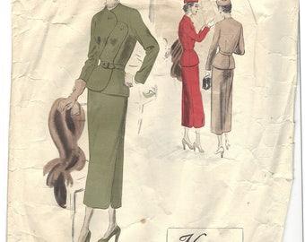 PWAP-0159 Vintage Vogue Couturier Design Pattern 442 S14