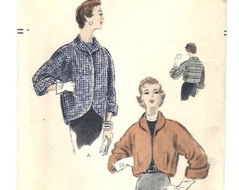 Vintage Vogue Pattern V-8151 Jacket Kimono Sleeves S16 1953 [PWAP-0123]