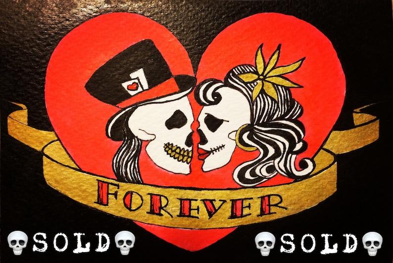 Carte de tatouage 'Forever... et Ever' illustration   Etsy