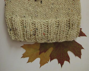 Light Beige woolen beanie