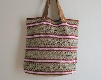 Handbag Asian Style Linen