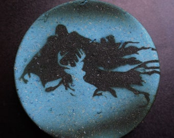 Hand Painted Expecto Patronum - BLUE / BLACK Bath Bomb