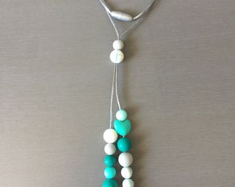 Silicone Necklace, chewable, teething, autism