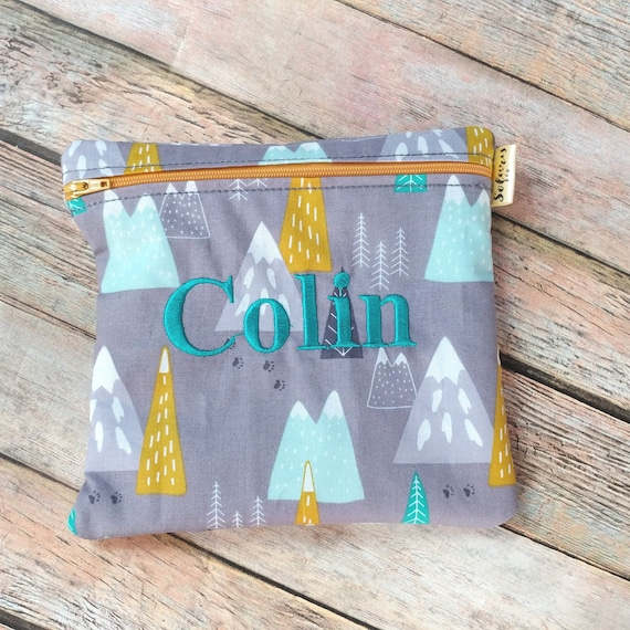 Reusable Sandwich Bag Mountains Hiking Gifts Treats Bag Etsy The thin film may cling to nose and mouth and prevent breathing. etsy