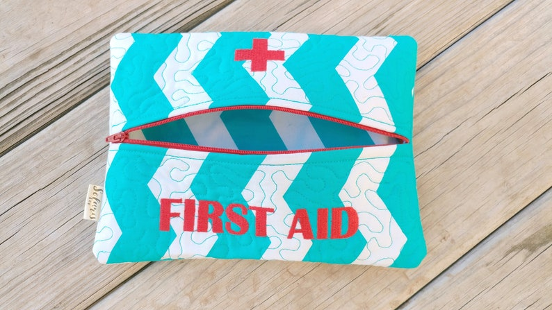 Large Personalized First Aid Pouchepipen bag medical alert pouch food allergy emergency medication thermal insulated camping school
