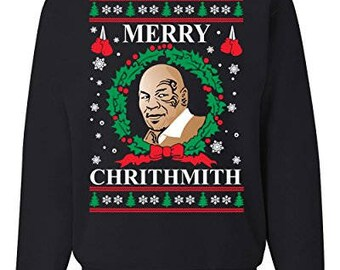 Merry Chrithmith Mike Tyson Ugly Christmas Sweater Unisex