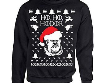 Ho Ho Hodor GoT Ugly Christmas Sweater Unisex Crewneck Sweatshirt