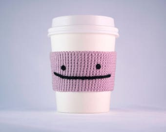Pokémon - Crocheted Ditto cup cozy