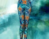 STARFISH YOGA LEGGINGS, leggings, yoga leggings, capris, yoga capris, crop top, yoga top, yoga gear, athleisure wear