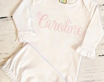 newborn gown etsy