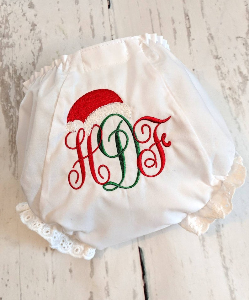 Toddler Bloomers Ruffle Bloomers Christmas Diaper Cover Christmas Bloomers Baby Embroidered Bloomers Christmas Bloomers Baby Bloomers