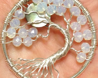 Full Moon TREE OF LIFE Necklace Pendant