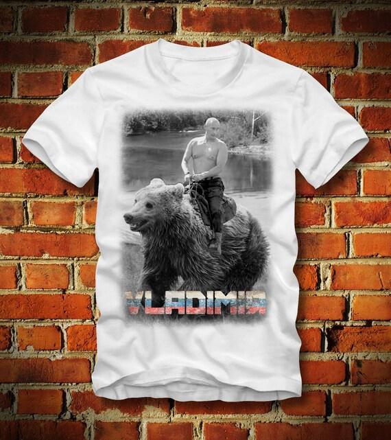Boardrippaz Vladimir Putin T Shirt Riding Bear Shirt Russia Etsy