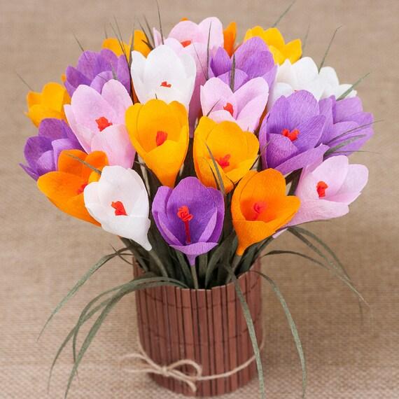Kwiaty Wiosenne Z Papieru