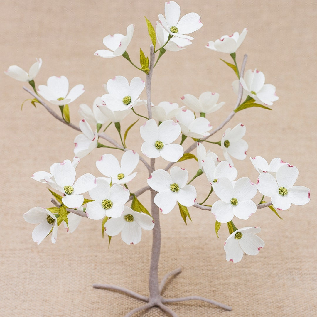 Bonsai dogwood paper tree crepe paper flowers paper etsy zoom izmirmasajfo