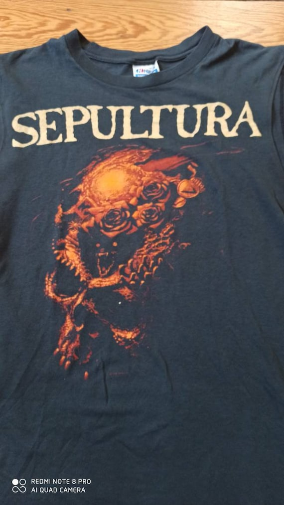 Sepultura Beneath the Remains Tour Shirt Wifebeater Muscleshirt 1989 large Death Thrash Black Metal Vintage Sodom Kreator Destruction Metal