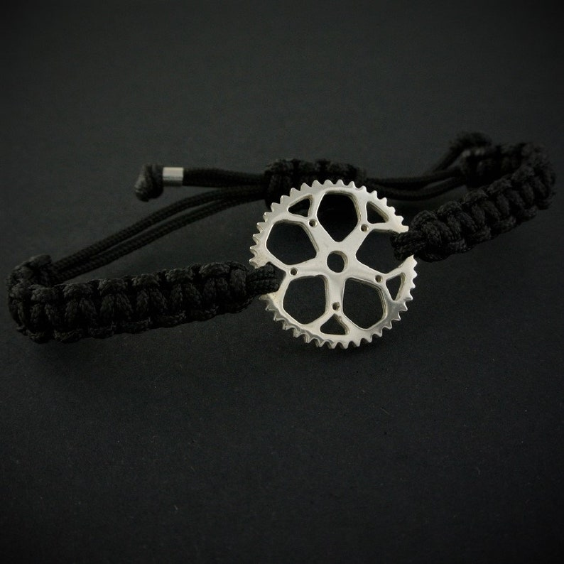 Bike chain ring bracelet PORTILLON Cycling jewelry by outdoorjewels.com