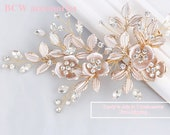 Rose gold Champagne color wedding hair accessory, Wedding hair accessory , Bridal hair pin, Wedding hair pin