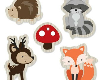 36 Woodland Animal Cupcake Toppers Diaper Cake Decorations