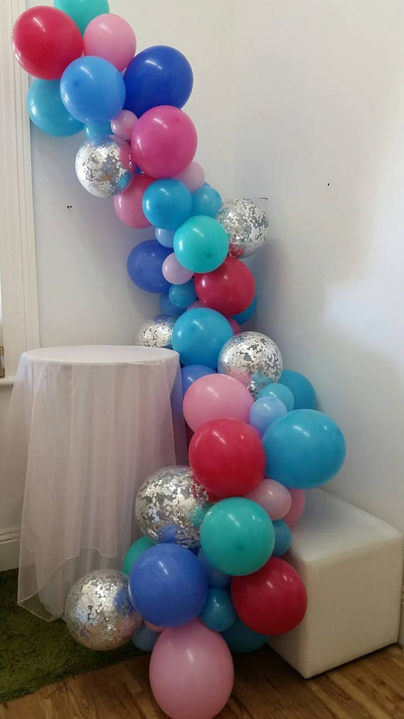 Balloon Garland Vine Decorations D I Y Etsy Rh Com 50th Birthday Centerpieces Happy