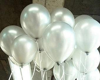 Silver Balloons, Metallic Silver Balloons, Balloons 30cm, Pkt 12