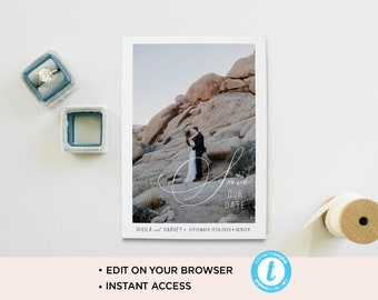 Photo save the date card/ save the date template/ save the date postcard/wedding card/save the date photo template/photo card/ save the date